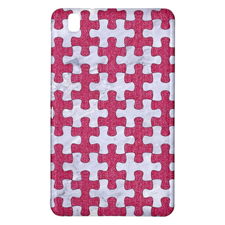 PUZZLE1 WHITE MARBLE & PINK DENIM Samsung Galaxy Tab Pro 8.4 Hardshell Case