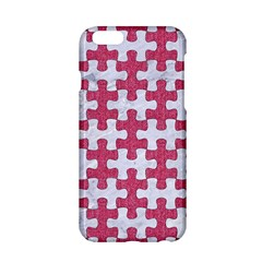 Puzzle1 White Marble & Pink Denim Apple Iphone 6/6s Hardshell Case