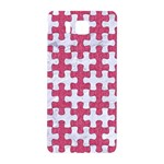 PUZZLE1 WHITE MARBLE & PINK DENIM Samsung Galaxy Alpha Hardshell Back Case Front