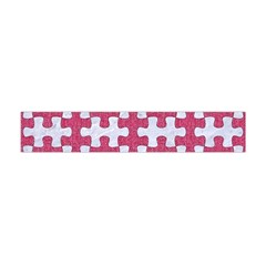 Puzzle1 White Marble & Pink Denim Flano Scarf (mini)