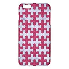 Puzzle1 White Marble & Pink Denim Iphone 6 Plus/6s Plus Tpu Case
