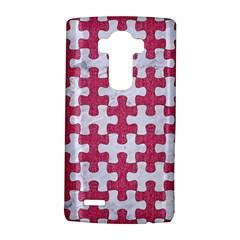 Puzzle1 White Marble & Pink Denim Lg G4 Hardshell Case