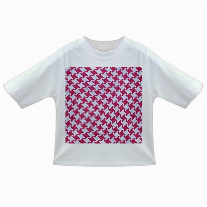 HOUNDSTOOTH2 WHITE MARBLE & PINK DENIM Infant/Toddler T-Shirts