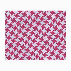Houndstooth2 White Marble & Pink Denim Small Glasses Cloth (2 Side)