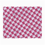 HOUNDSTOOTH2 WHITE MARBLE & PINK DENIM Small Glasses Cloth (2-Side) Front