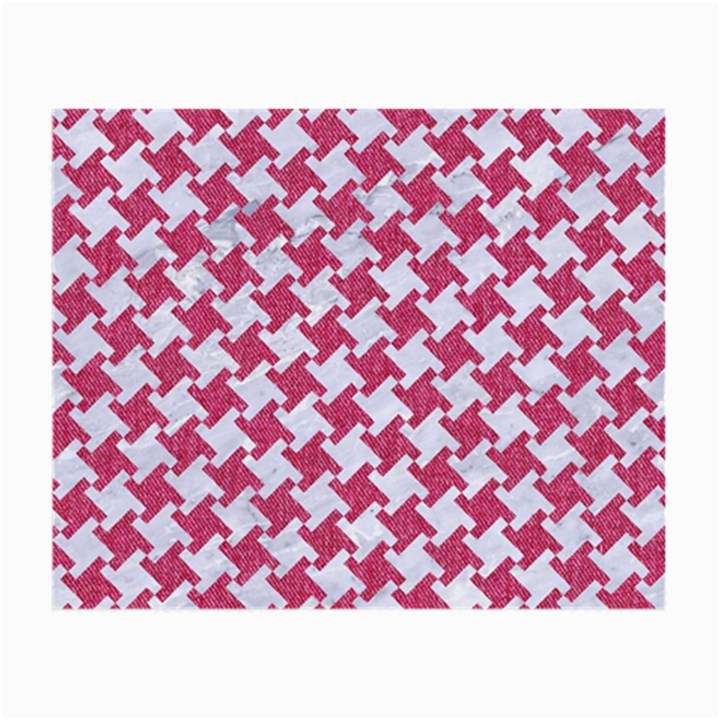 HOUNDSTOOTH2 WHITE MARBLE & PINK DENIM Small Glasses Cloth (2-Side)