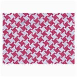 HOUNDSTOOTH2 WHITE MARBLE & PINK DENIM Large Glasses Cloth Front