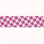 HOUNDSTOOTH2 WHITE MARBLE & PINK DENIM Large Bar Mats 34 x9.03 Bar Mat - 1