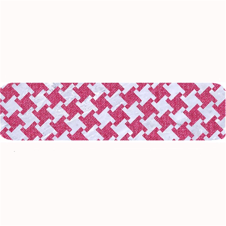 HOUNDSTOOTH2 WHITE MARBLE & PINK DENIM Large Bar Mats