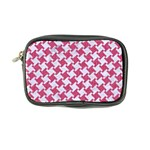 HOUNDSTOOTH2 WHITE MARBLE & PINK DENIM Coin Purse Front