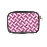 HOUNDSTOOTH2 WHITE MARBLE & PINK DENIM Coin Purse Back