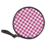 HOUNDSTOOTH2 WHITE MARBLE & PINK DENIM Classic 20-CD Wallets Front