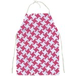 HOUNDSTOOTH2 WHITE MARBLE & PINK DENIM Full Print Aprons Front