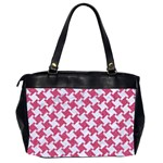 HOUNDSTOOTH2 WHITE MARBLE & PINK DENIM Office Handbags (2 Sides)  Back