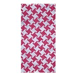 HOUNDSTOOTH2 WHITE MARBLE & PINK DENIM Shower Curtain 36  x 72  (Stall)  33.26 x66.24 Curtain
