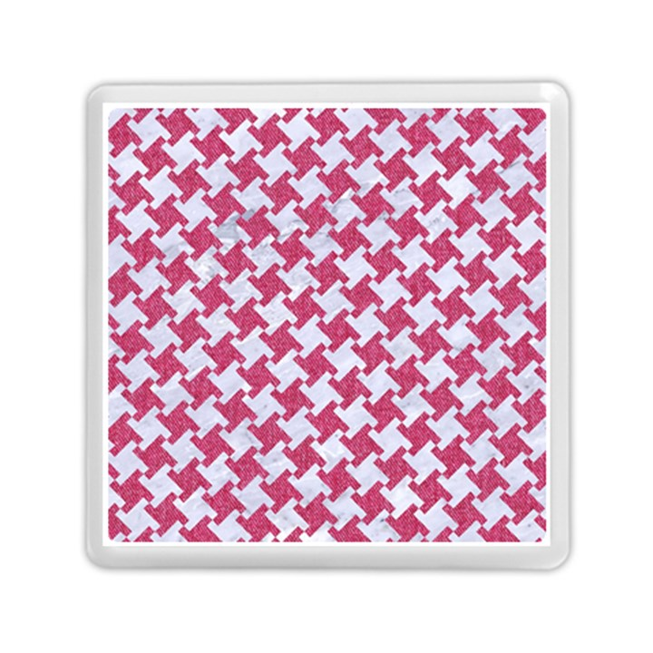 HOUNDSTOOTH2 WHITE MARBLE & PINK DENIM Memory Card Reader (Square)