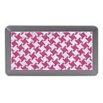 HOUNDSTOOTH2 WHITE MARBLE & PINK DENIM Memory Card Reader (Mini) Front