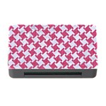 HOUNDSTOOTH2 WHITE MARBLE & PINK DENIM Memory Card Reader with CF Front