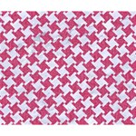 HOUNDSTOOTH2 WHITE MARBLE & PINK DENIM Deluxe Canvas 14  x 11  14  x 11  x 1.5  Stretched Canvas