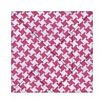 HOUNDSTOOTH2 WHITE MARBLE & PINK DENIM Acrylic Tangram Puzzle (6  x 6 ) Front