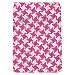 HOUNDSTOOTH2 WHITE MARBLE & PINK DENIM Flap Covers (L)  Front