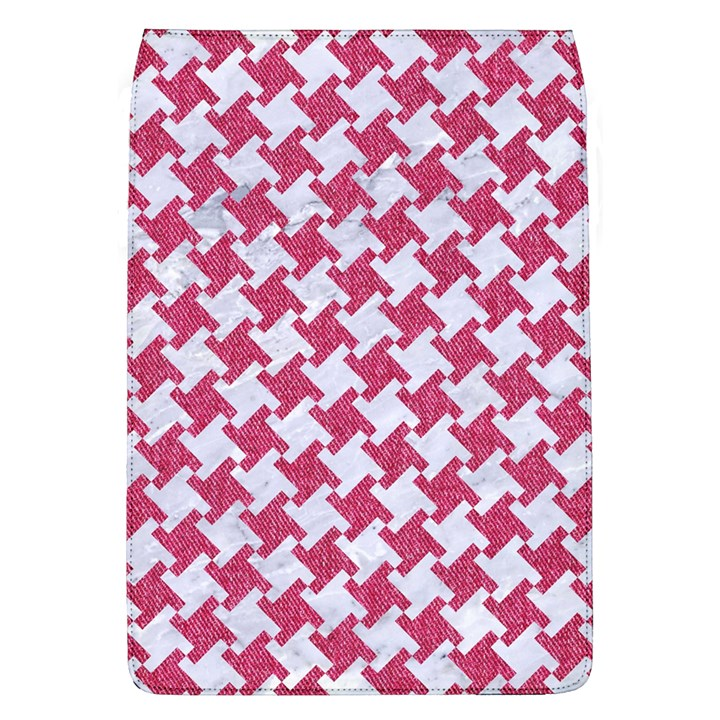 HOUNDSTOOTH2 WHITE MARBLE & PINK DENIM Flap Covers (L)