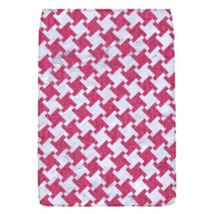 HOUNDSTOOTH2 WHITE MARBLE & PINK DENIM Flap Covers (S)