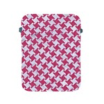 HOUNDSTOOTH2 WHITE MARBLE & PINK DENIM Apple iPad 2/3/4 Protective Soft Cases Front