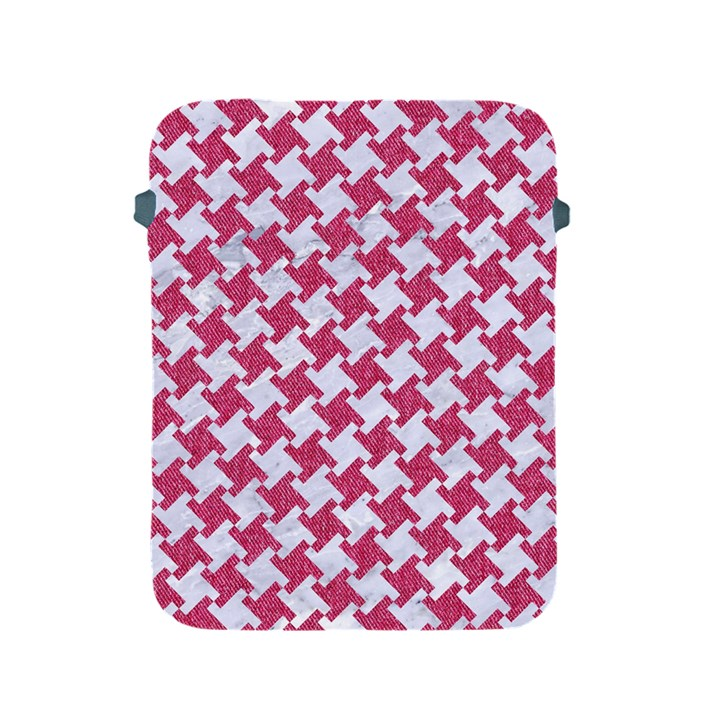 HOUNDSTOOTH2 WHITE MARBLE & PINK DENIM Apple iPad 2/3/4 Protective Soft Cases