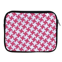 Houndstooth2 White Marble & Pink Denim Apple Ipad 2/3/4 Zipper Cases