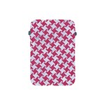 HOUNDSTOOTH2 WHITE MARBLE & PINK DENIM Apple iPad Mini Protective Soft Cases Front