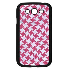 Houndstooth2 White Marble & Pink Denim Samsung Galaxy Grand Duos I9082 Case (black)