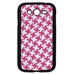 HOUNDSTOOTH2 WHITE MARBLE & PINK DENIM Samsung Galaxy Grand DUOS I9082 Case (Black) Front
