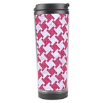 HOUNDSTOOTH2 WHITE MARBLE & PINK DENIM Travel Tumbler Right