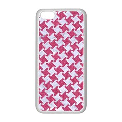 Houndstooth2 White Marble & Pink Denim Apple Iphone 5c Seamless Case (white)