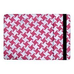 Houndstooth2 White Marble & Pink Denim Samsung Galaxy Tab Pro 10 1  Flip Case