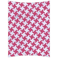 Houndstooth2 White Marble & Pink Denim Back Support Cushion by trendistuff