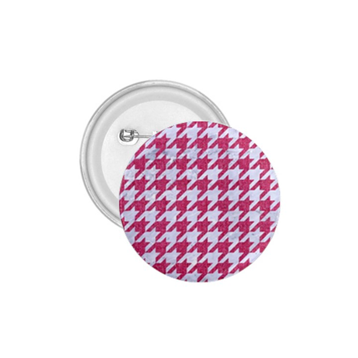 HOUNDSTOOTH1 WHITE MARBLE & PINK DENIM 1.75  Buttons