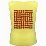 HOUNDSTOOTH1 WHITE MARBLE & PINK DENIM Women s Yellow Tank Top Back