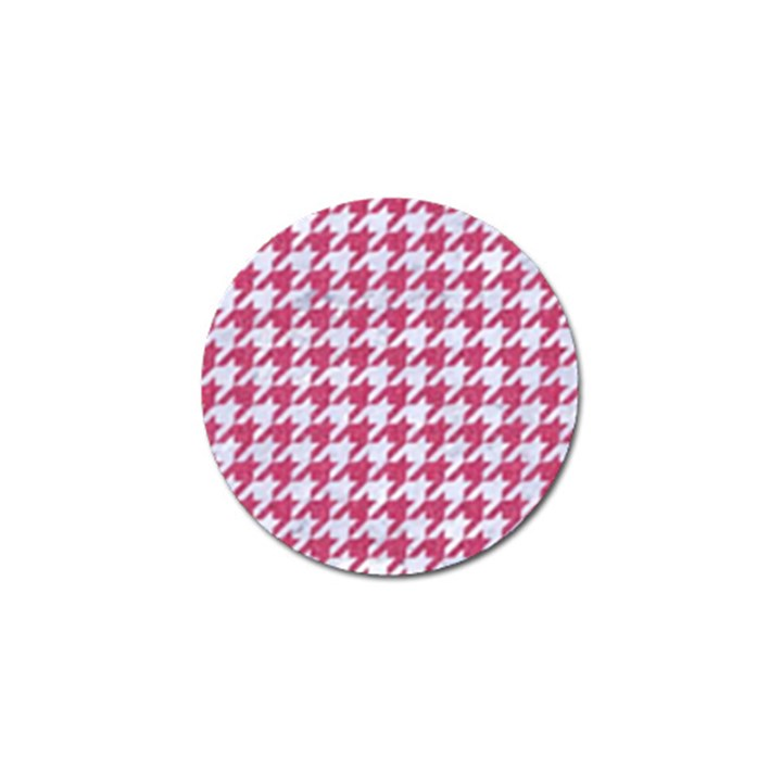 HOUNDSTOOTH1 WHITE MARBLE & PINK DENIM Golf Ball Marker (10 pack)