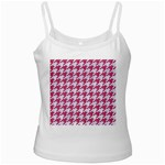 HOUNDSTOOTH1 WHITE MARBLE & PINK DENIM Ladies Camisoles Front