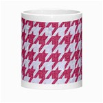 HOUNDSTOOTH1 WHITE MARBLE & PINK DENIM Morph Mugs Center