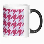 HOUNDSTOOTH1 WHITE MARBLE & PINK DENIM Morph Mugs Right