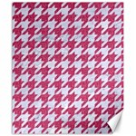 HOUNDSTOOTH1 WHITE MARBLE & PINK DENIM Canvas 20  x 24   24 x20 Canvas - 1