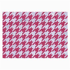 Houndstooth1 White Marble & Pink Denim Large Glasses Cloth (2 Side)