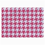 HOUNDSTOOTH1 WHITE MARBLE & PINK DENIM Large Glasses Cloth (2-Side) Front