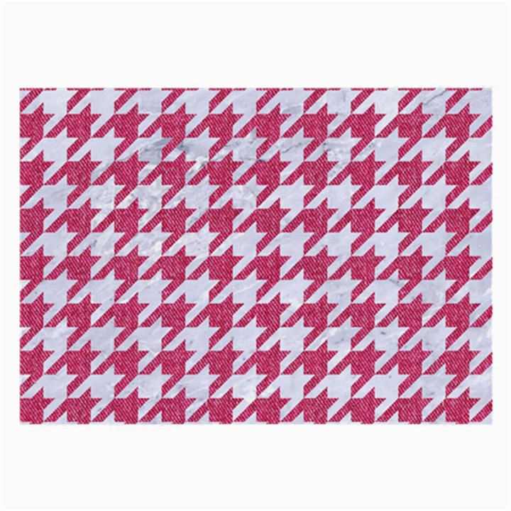HOUNDSTOOTH1 WHITE MARBLE & PINK DENIM Large Glasses Cloth (2-Side)