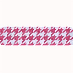 Houndstooth1 White Marble & Pink Denim Large Bar Mats