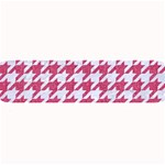 HOUNDSTOOTH1 WHITE MARBLE & PINK DENIM Large Bar Mats 34 x9.03 Bar Mat - 1