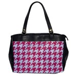 HOUNDSTOOTH1 WHITE MARBLE & PINK DENIM Office Handbags Front